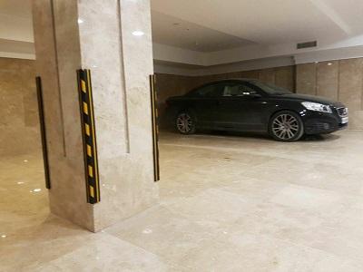 ضربه گیر لاستیکی پارکینگ فروش تجهیزات پارکینگ نبشی ضربه گیر محافظ ستون پارکینگ